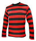 NYC Long Sleeve PUNK GOTH Emo mime Stripe Striped Shirt Black Red S M L XL