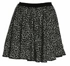 Snow Leopard Animal Print Cheerleader Skater Skirt Roller Derby Girl