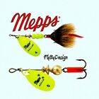 Mepps Aglia Hot Chartreuse Blade, Choice of Hook, Blade Size, Weight, & Quantity