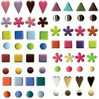 LOT 50 BRADS ATTACHES PARISIENNES MULTICOLORE SCRAPBOOKING SCRAP CARTE COEUR POI