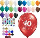 40th Birthday/Ruby Anniversary Helium Balloon Ribbon Weight Party Decoration Kit