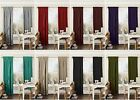 PLAIN FAUX SILK PENCIL PLEAT READY-MADE FULLY LINED CURTAINS WITH TIE-BACKS