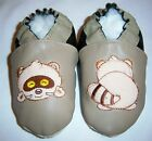 Moxiesbabyshoes leather baby shoes racoon , cow frog dinosaur chaussons cuir