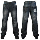 E21 DEAL MENS 7 SERIES BLUE WASH REGULAR FIT CARGO JEANS ALL WAIST & LEG SIZE