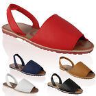 New Ladies PU Leather Womens Sling Back Flip Flop Summer Sandals Shoes Size 3-8