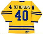 HENRIK ZETTERBERG AUTHENTIC TEAM SWEDEN 2006 OLYMPIC GOLD JERSEY RED WINGS