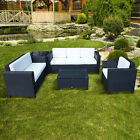 Outdoor Rattan Garden Patio Wicker Weave Furniture Table Sofa Chair Black New