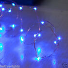 BLUE BATTERY OPERATED MICRO COPPER WIRE FAIRY STRING LIGHT XMAS PARTY 20 36 LED