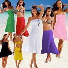 Sexy Women Strapless Bikini Cover-Up Swimwear Summer Bandeau Beach Dress Skirt