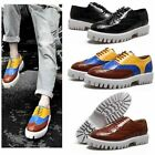 2014 Men's leather Dress Shoes Flats Platform Brogue Oxfords Lace up 4color