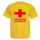 Orgasm Donor Two Novelty Adult T Shirt
