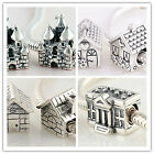 925 Sterling Silver House Series I Jaime Bead Fit European Charms Bracelets