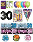 30th Birthday AGE 30 - Large Range of CAKE CANDLES & Party BANNERS(Plastic/Foil)