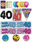 40th Birthday AGE 40 - Large Range of Party BADGES - Small/Large/Giant/Shaped