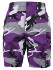 shorts camo bdu military style cargo ultra violet camouflage purple rothco 7100