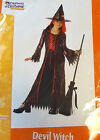 Devil Witch Child Costume Dress 8-10 10-12 NIP
