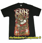 SRH Mens 205TSDB Day Of The Dead Logo Short Sleeve Screened T-Shirt FMX Black