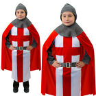 KIDS KNIGHT COSTUME MEDIEVAL ST GEORGES DAY KING CRUSADER OUTFIT FANCY DRESS