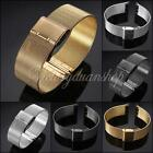 NEW 18/20/22/24mm Stainless Steel Watch Mesh Band Strap Double Clasp Bracelet
