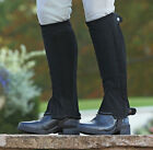 SHIRES ADULTS SYNTHETIC NUBUCK HALF CHAPS 9626 riding wear gaiters hacking