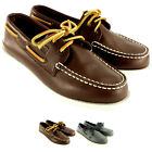 Kids Boys Sperry Sahara Boat Shoes Lace Up Leather Deck Shoes New US 11.5-1.5