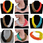 Attractive 40Layered Handmade Multi-Color Beads Choker Collar Statement Necklace