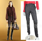 $895 GUCCI PANTS BLACK WOOL BLEND BROCADE SKINNY TROUSERS 38 /US 2, 40 /US 4