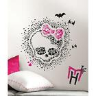 MONSTER HIGH HEART SKULLETTE wall stickers MURAL 18 decal party decoration skull