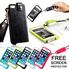 UNIQUE NECK STRAP PU LEATHER FULL BODY POUCH COVER CASE FOR APPLE IPHONE 5 5S 5C