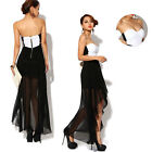Summer Sexy Women Lady Asymmetric Strapless Cocktail Party Clubwear Dress Skirt