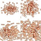 100 Pure Copper Crimp Tube Beads Findings for Ending Beading Cord & Wire Ends