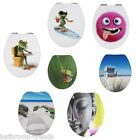 Novelty Soft Closing Picture Toilet Seats MDF Finished With Clear Acrylic Sheet