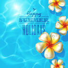 Reusable & Re-Positional Large Wall Decals-Happy Summer Tropical Artwork Holiday