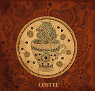 Reusable & Re-Positional Large Wall Decals-Retro Grunge Coffe Artwork Poster Art