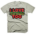 Mens Funny Saying T-Shirts-I Love Watermelon-Funny Tees For Men-Various Colours