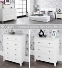 BROOKLYN White bedroom furniture,white chest of drawers, bedside table, wardrobe