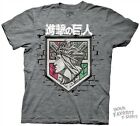 Attack On Titan Wall Shield Anime Licensed Adult T Shirt