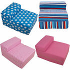 Kids Foam Fold Out Sleep Over Guest Single Futon Chair Single Z Bed Sofa Beds