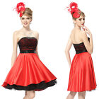 Lovely Black Red Short Mini Cocktail Party Homecoming Dress Ball Prom Gown 03972