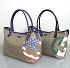 NEW Authentic Gucci Tote Bag Handbag,American/US/Italian/Canadian Flag,203693