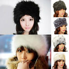 New Ladies Womens Faux Fox Fur Russian Cossack Style Hat Winter Ski Headband