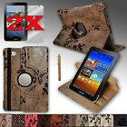 "PU Leather Case Rotating Stand For Samsung Galaxy Tab2 7.0 or Tab 7.0 ""PLUS"""