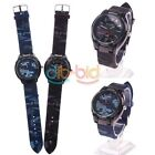 Unisex Men Women WOMAGE Camouflage Round Dial Analog  Quartz Wrist Watch
