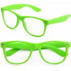 Clear Lens Fashion Glasses Optical Possible Mens Womens Green Neon Wayfarer