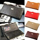 Fashion Zipper Design Leather Card Coin Holder Wallet Purse Long Clutch Handbag