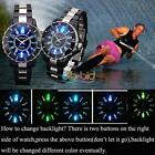 Fashion New LED Light Black White Analog Quartz Men Sport Waterproof Wrist Watch