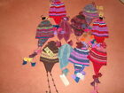 Alice Hannah 100% Alpaca Wool Hand Knitted Ethnic Peruvian Trapper Hats