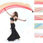 Belly Dance Practice Costume Gradient Silk Veil Poi 1Veils + 1Poi Chain