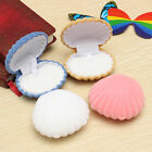 Elegant Sea Shell Shape Flocking Ring Boxes Pendant Locket Earrings Jewelry Case