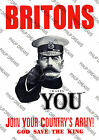 """Vintage 1st World War Poster """"Join The Army-Your Country Needs You"""" re-print"""